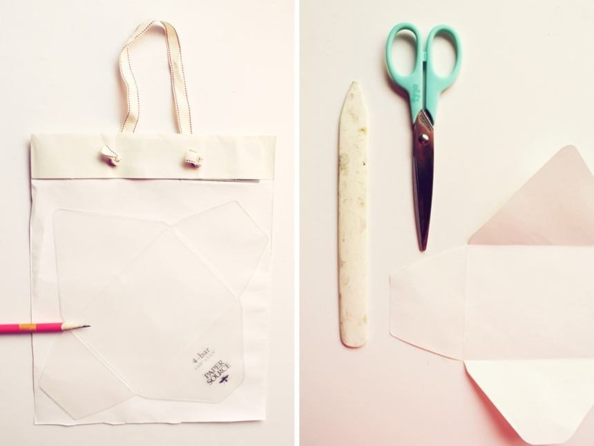 Turning Anthropologie Bags into Envelopes | Ann-Marie Loves Paper