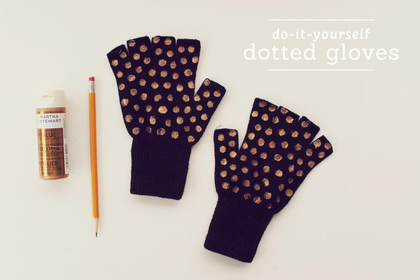 DIY Dotted Gloves | Ann-Marie Loves Paper