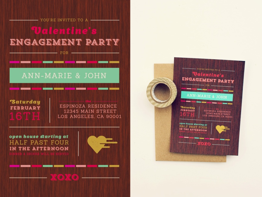 Engagement Party Invitations | Ann-Marie Loves Paper