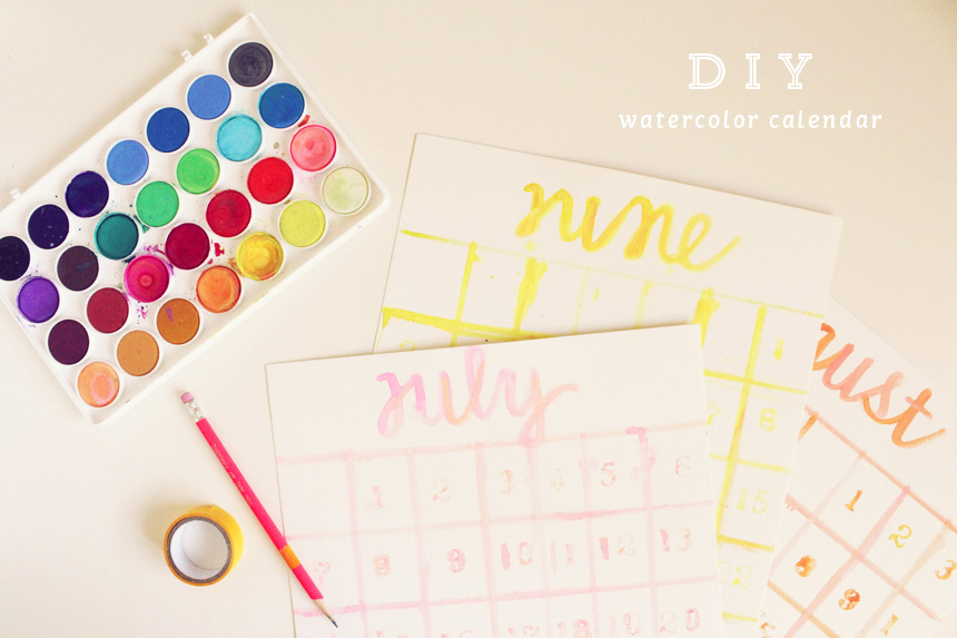 DIY Watercolor Calendar | Ann-Marie Loves Paper
